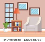 living room place with sofa | Shutterstock .eps vector #1200658789