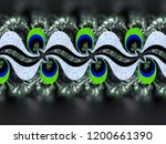 a hand drawing pattern made of... | Shutterstock . vector #1200661390
