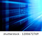 stand with server hardware and... | Shutterstock . vector #1200672769