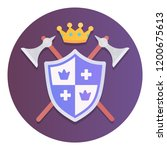 medieval shield icon | Shutterstock .eps vector #1200675613