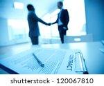 image of business contract on... | Shutterstock . vector #120067810