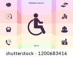 wheelchair handicap icon   Shutterstock .eps vector #1200683416