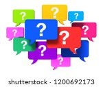 questions speech bubbles... | Shutterstock . vector #1200692173