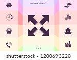 extend  resize icon. cross... | Shutterstock .eps vector #1200693220