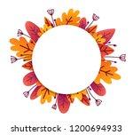 orange autumn leaves and... | Shutterstock .eps vector #1200694933