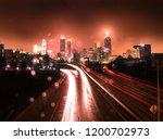 Rainy Night In Atlanta With Red ...