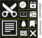 collection of 10 interface... | Shutterstock .eps vector #1200703969
