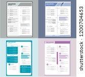 modern cv resume template vector | Shutterstock .eps vector #1200704653