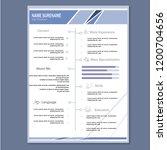 modern cv resume template vector | Shutterstock .eps vector #1200704656