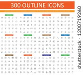 set of 300 outline icon use for ...