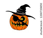 pumpkin for the holiday of... | Shutterstock .eps vector #1200720850