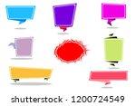 set of paper banners. vector...   Shutterstock .eps vector #1200724549
