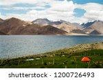 pangong lake in ladakh  north... | Shutterstock . vector #1200726493