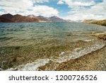 pangong lake in ladakh  north... | Shutterstock . vector #1200726526