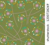 cute dandelion blowing vector...   Shutterstock .eps vector #1200728269