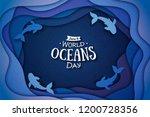 paper art concept of world... | Shutterstock .eps vector #1200728356
