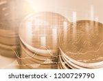 modern way of exchange. bitcoin ... | Shutterstock . vector #1200729790