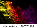 multicolour smoke on black... | Shutterstock . vector #1200732109