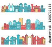 architecture skyscraper skyline ... | Shutterstock .eps vector #1200733153