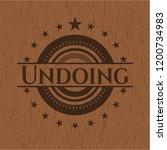 undoing badge with wooden...   Shutterstock .eps vector #1200734983