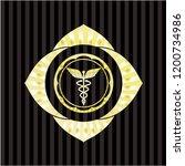 caduceus medical icon inside... | Shutterstock .eps vector #1200734986