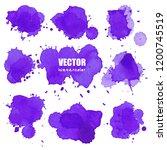 set of splash purple watercolor ... | Shutterstock .eps vector #1200745519