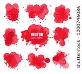 set of splash red watercolor ... | Shutterstock .eps vector #1200746086