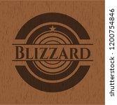 blizzard retro wooden emblem   Shutterstock .eps vector #1200754846