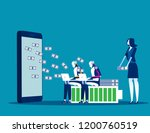 artificial intelligence working ... | Shutterstock .eps vector #1200760519