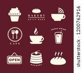 coffee shop icon vector set   Shutterstock .eps vector #1200762916