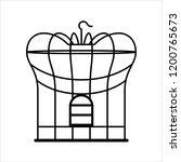 bird cage icon  bird cage... | Shutterstock .eps vector #1200765673