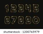 set numbers 0  1  2  3  4  5  6 ... | Shutterstock .eps vector #1200765979