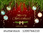 postcard with pearly christmas... | Shutterstock .eps vector #1200766210