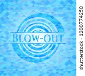 blow out light blue emblem with ... | Shutterstock .eps vector #1200774250