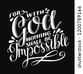Hand Lettering For With God...