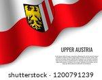 waving flag of upper austria is ... | Shutterstock .eps vector #1200791239