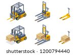warehouse hydraulic equipment... | Shutterstock .eps vector #1200794440