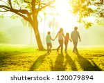 happy asian family holding... | Shutterstock . vector #120079894