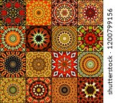 art colorful vintage seamless... | Shutterstock . vector #1200799156