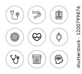 diagnosis icon set. collection... | Shutterstock .eps vector #1200799876
