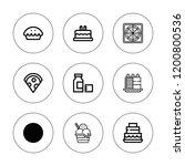 delicious icon set. collection...   Shutterstock .eps vector #1200800536