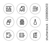 gasoline icon set. collection... | Shutterstock .eps vector #1200800653