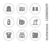 architectural icon set.... | Shutterstock .eps vector #1200800659