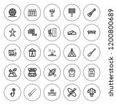 outdoor icon set. collection of ... | Shutterstock .eps vector #1200800689