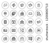 address icon set. collection of ... | Shutterstock .eps vector #1200800713
