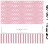 Stock vector vector card or invitation for baby shower wedding or birthday party with stripes and sweet white 120080089