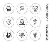 monster icon set. collection of ... | Shutterstock .eps vector #1200802003