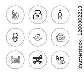 newborn icon set. collection of ... | Shutterstock .eps vector #1200802213