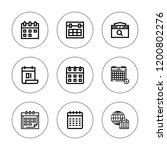 month icon set. collection of 9 ...