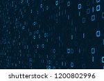 digital binary code background  ...   Shutterstock . vector #1200802996